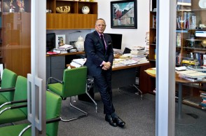 New York Times Executive Editor Dean Baquet is photographed in his office in New York City on Friday April 21, 2017.